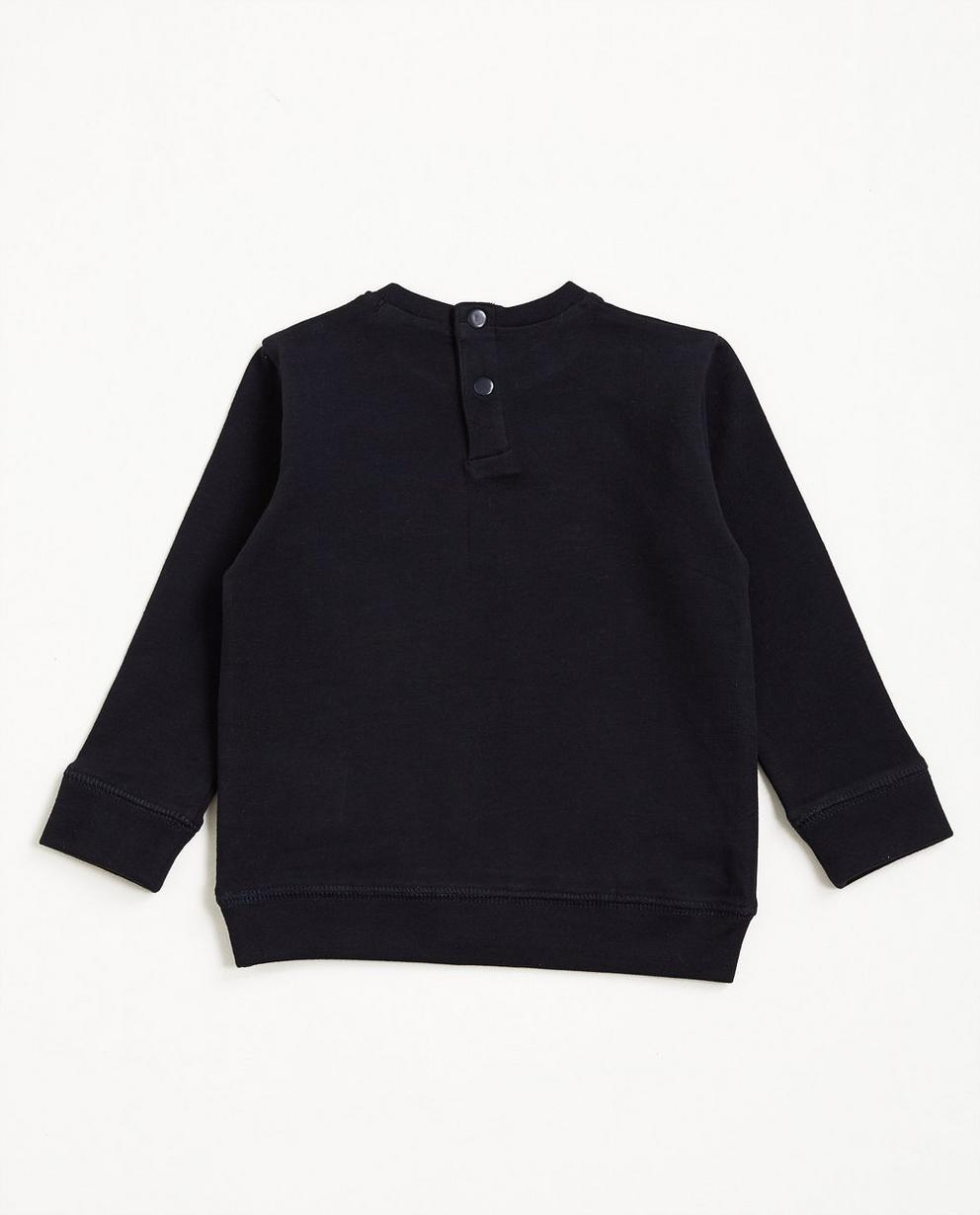 Sweater met opschrift - van elastisch biokatoen - JBC